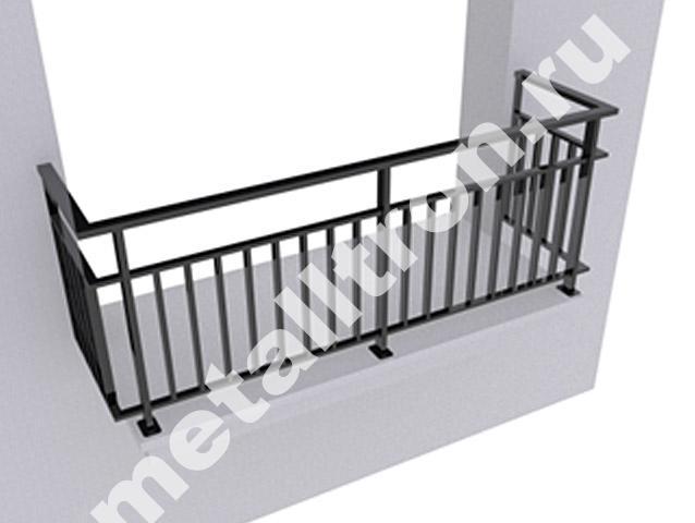 Балконные ограждения из черного металла